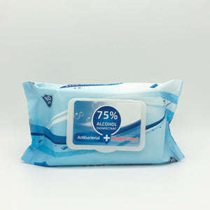 Health Guard 75% Alcohol Disinfecting Surface Wipes (80 Wipes/Pack)