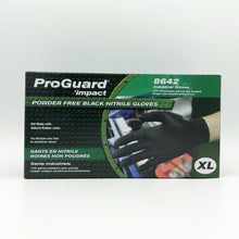 Load image into Gallery viewer, IMPACT ProGuard Disposable Black Nitrile Powder-Free Gloves - X-Large