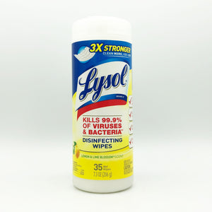 Lysol Disinfecting Wipes - Lemon and Lime Blossom (35 Wipes)