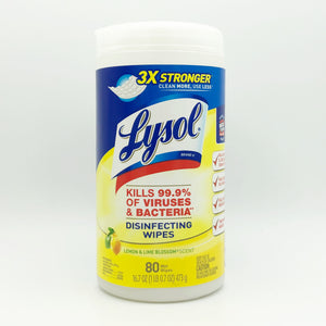 Lysol Disinfecting Wipes - Lemon and Lime Blossom (80 Wipes)