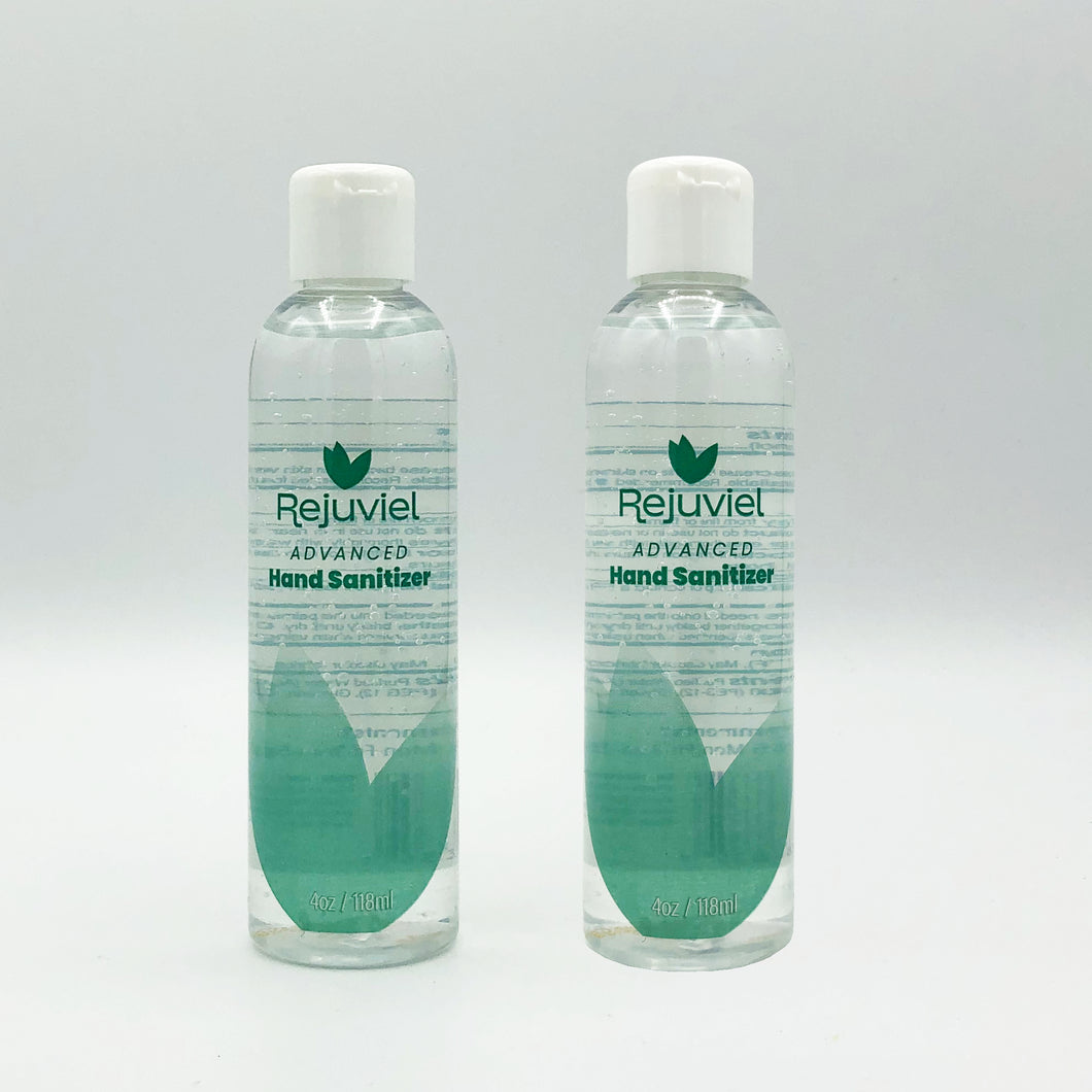 Rejuviel Advanced Hand Sanitizer - 70% Alcohol - 4oz (Pack of 2)