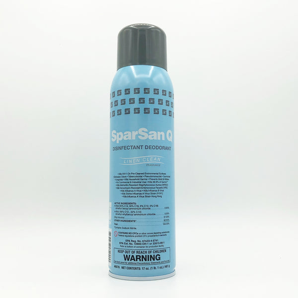 SparSan Q Aerosol Disinfectant Spray - Clean Linen Fragrance