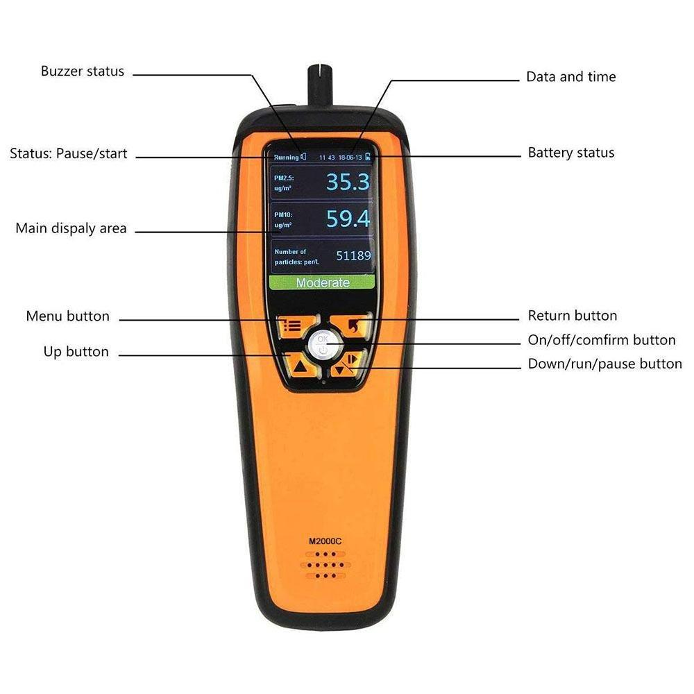 Temtop M2000C Air Quality Detector Professional CO2/PM2.5/PM10 Monitor - Temtop