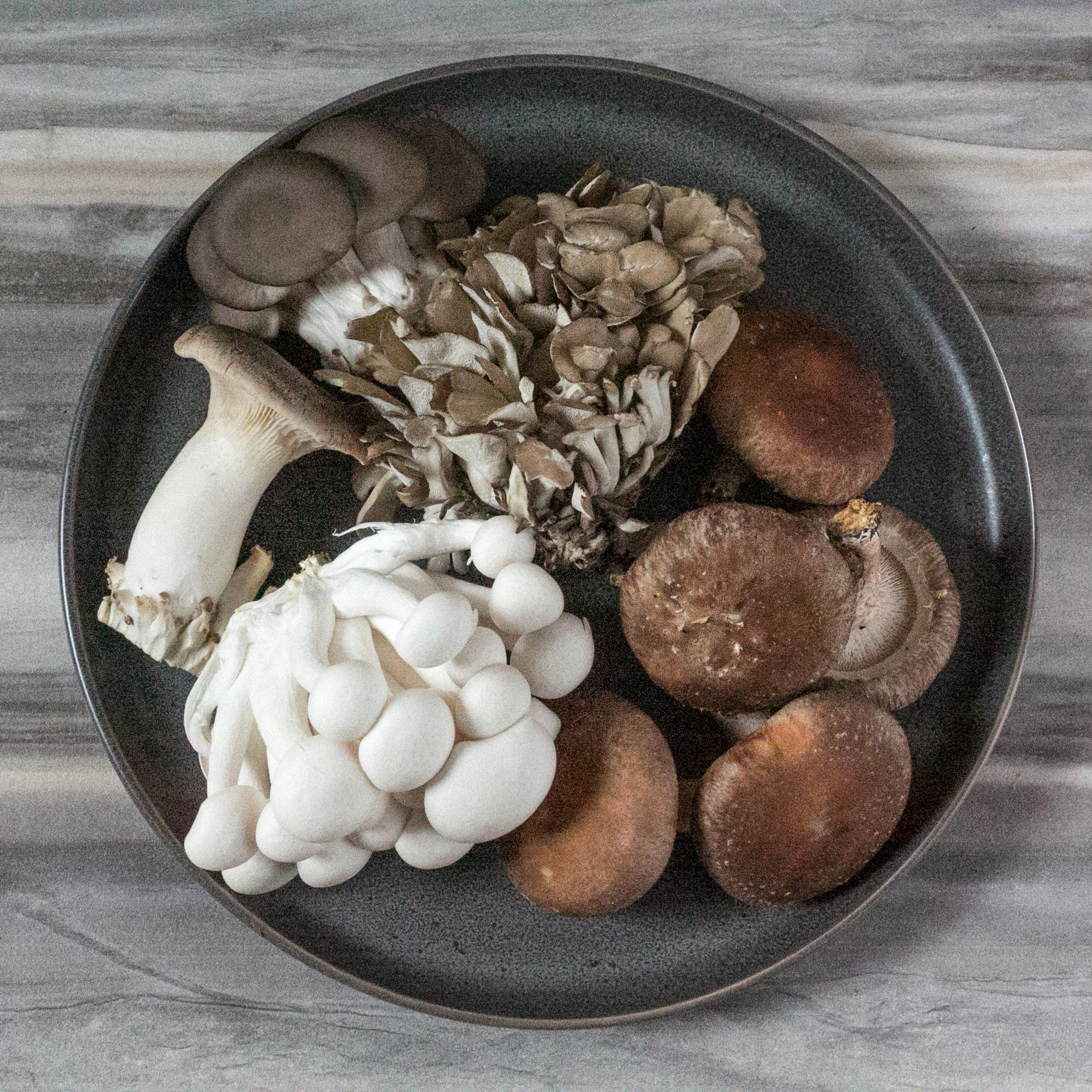 Assorted mushrooms in a bowl