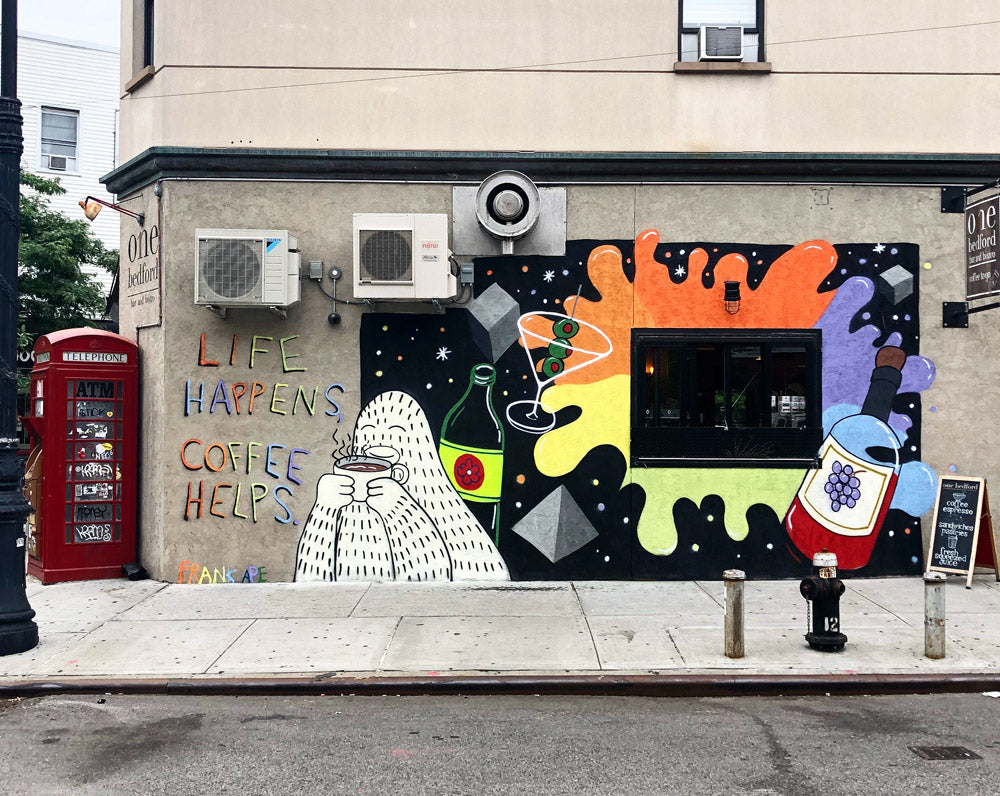Frank Ape mural on One Bedford in Brooklyn New York