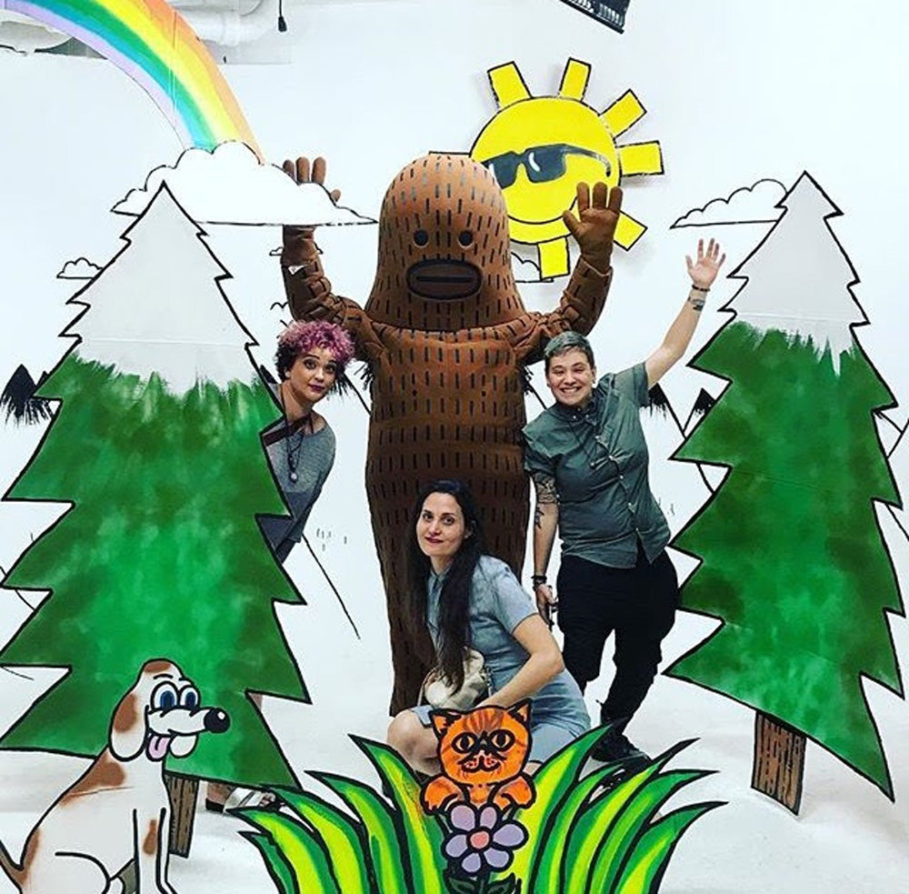 Frank Ape installation at Contra Studios with friends.