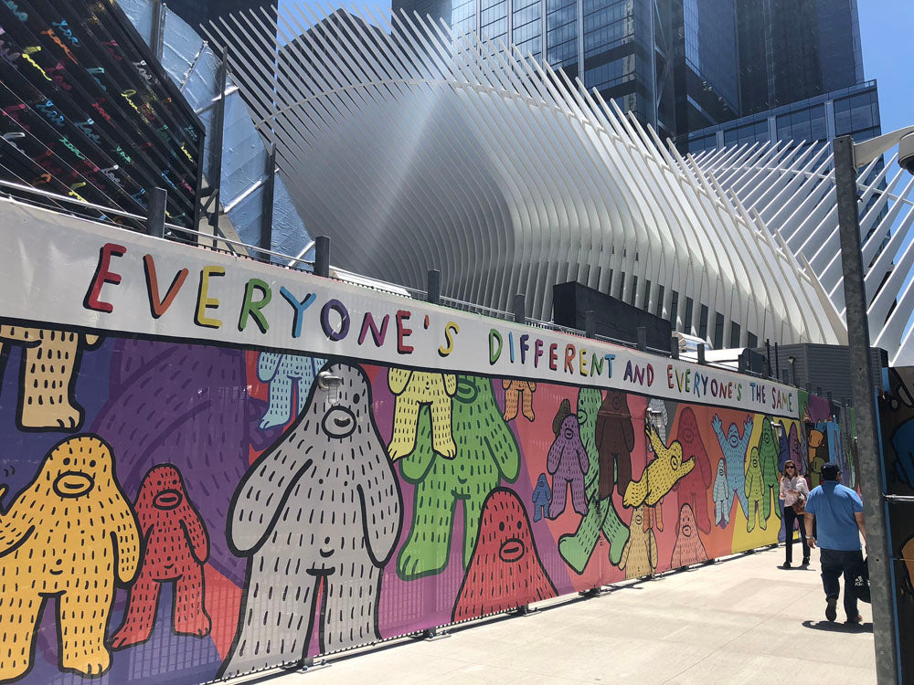 Frank Ape mural at the World Trade Center