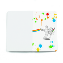 Load image into Gallery viewer, Rainbow Jump - Layflat Notebook 5.25x 8.25 inches