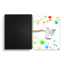 Load image into Gallery viewer, Rainbow Jump - Spiral Notebook 7 x 9 inches