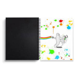 Rainbow Jump - Spiral Notebook 7 x 9 inches