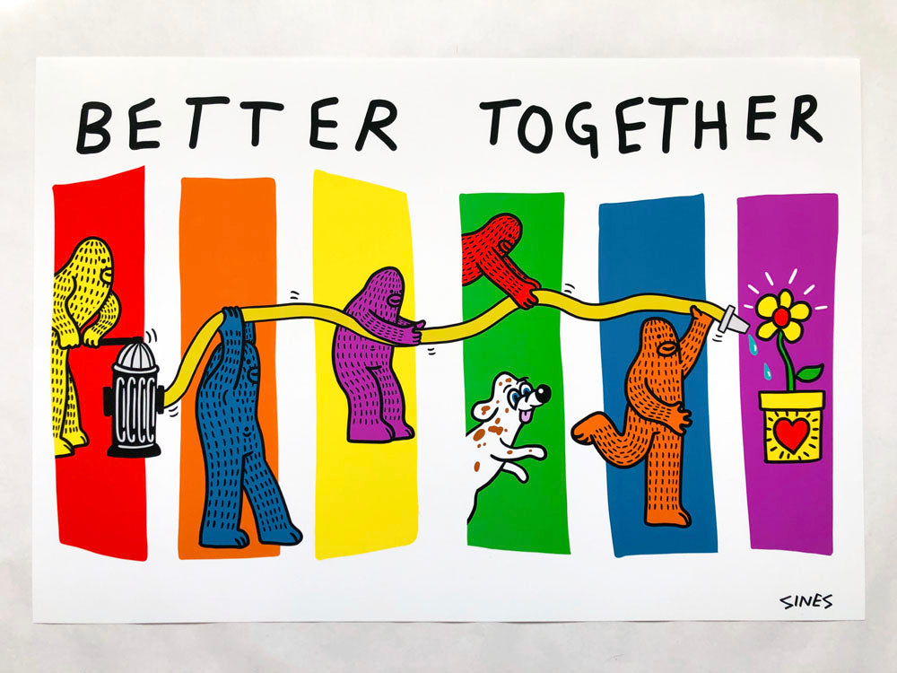 Better Together - 13 x 19 inch Signed Print