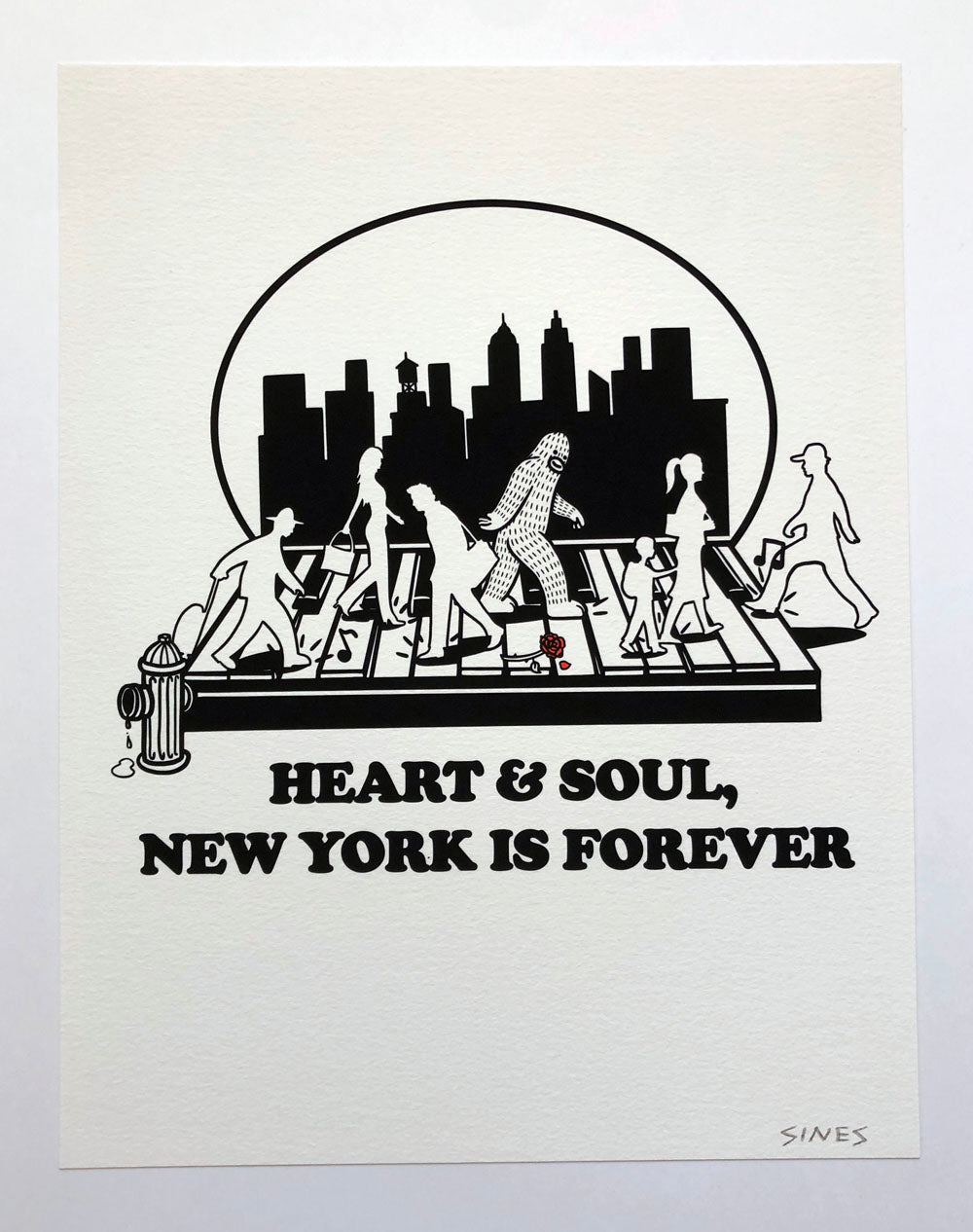 Heart and Soul - 8.5 x 11 inch signed print