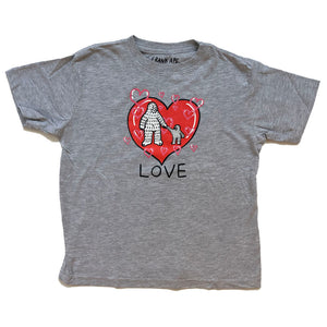 LOVE Kids Tee  (5/6 T) - Grey T Shirt