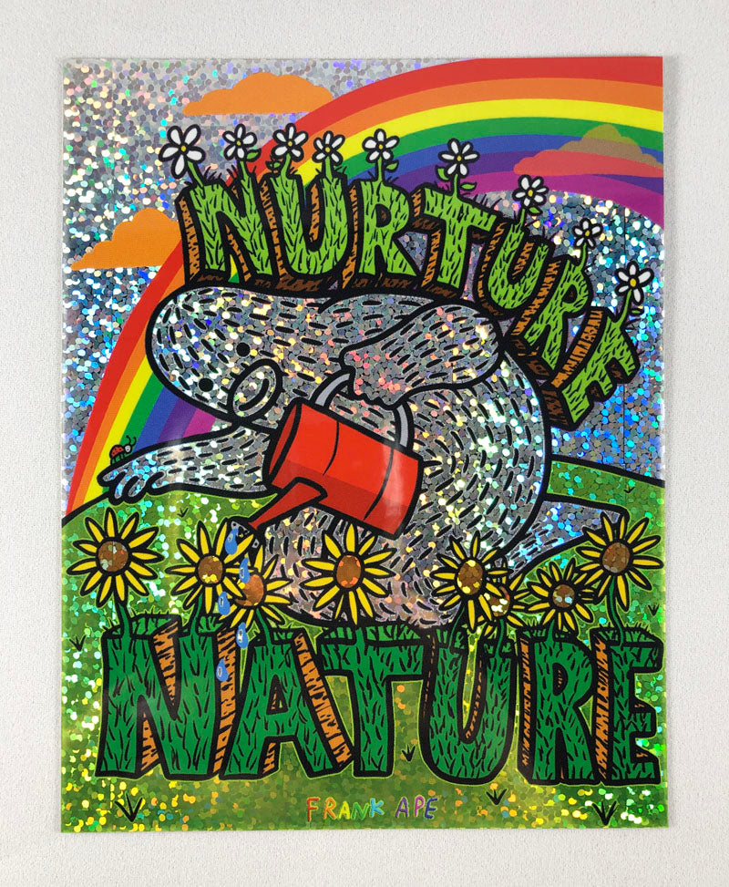 Nurture Nature - Glitter Sticker