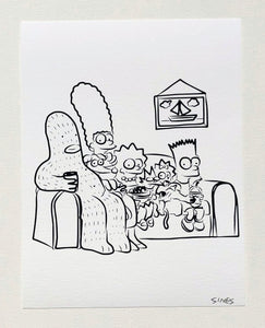 Simpsons - 8.5 x 11 inch signed print