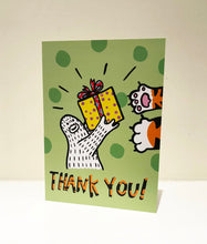 "Load image into Gallery viewer, ""Thank You"" Greeting Card with Envelope"