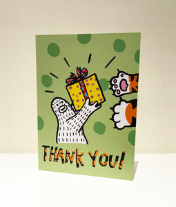 """Thank You"" Greeting Card with Envelope"
