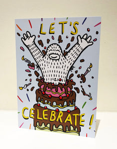 """Celebrate"" Greeting Card with Envelope"