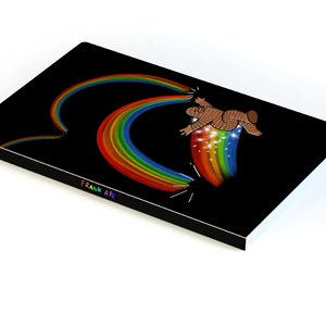 Rainbow Jump - Layflat Notebook 5.25x 8.25 inches