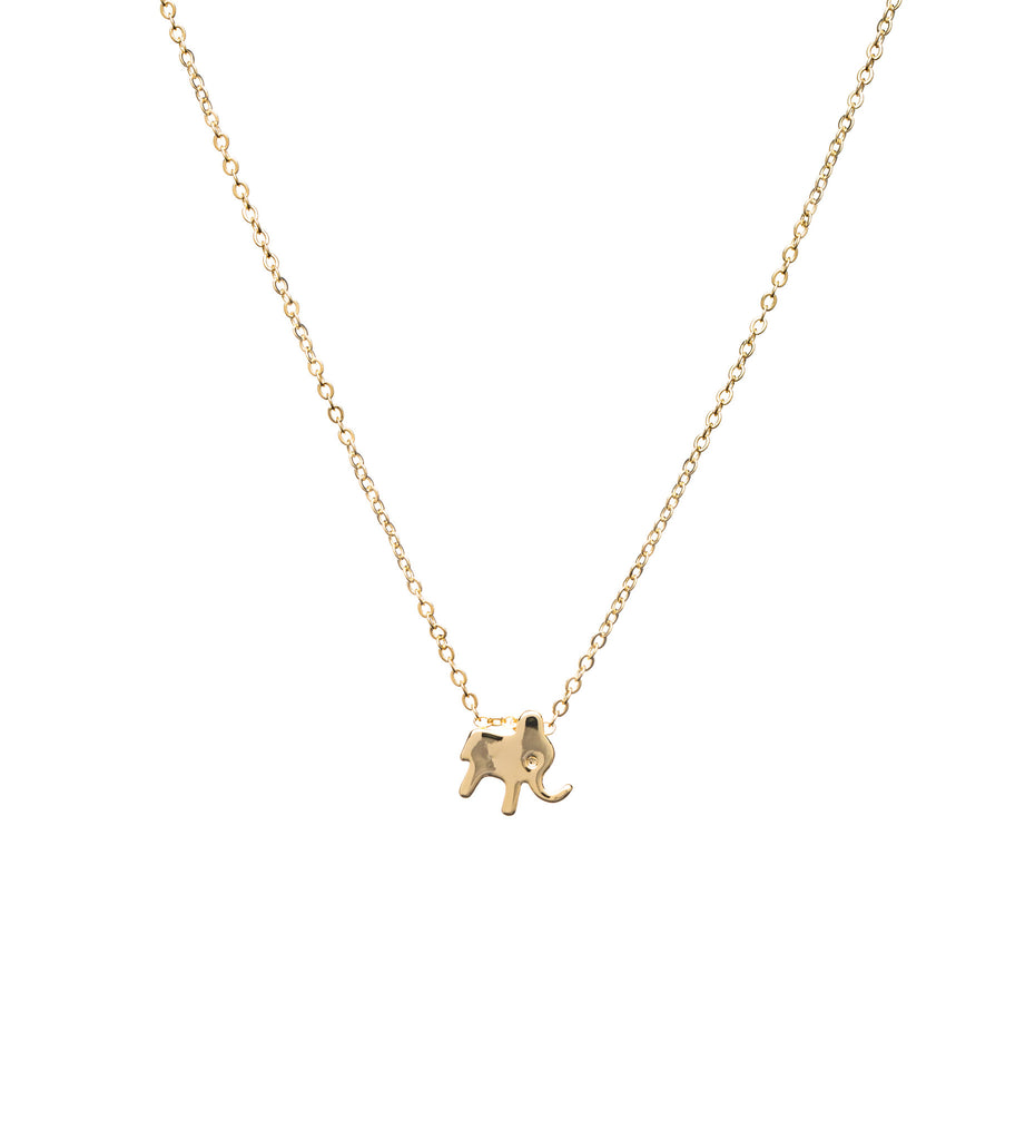 Vegan jewelry gold elephant charm necklace the hungry elephant theo necklace theo necklace aloadofball Images