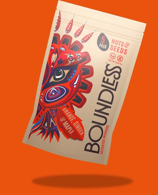 Boundless Activated Nuts & Seeds, Orange Ginger & Maple