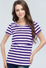Nursing Stripe Purple