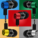earphones 3.5mm Wired earphone High bass dual drive Stereo In ear earphone earbud For Smartphones Cell phone for iPad iPhone MP3