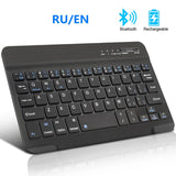 Bluetooth Keyboard Wireless Keyboard Russian for ipad PhoneTablet Mini Rechargeable Keyboard  keycap for Android ios Windows