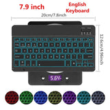 Ultra Slim Aluminum Russian Spanish Bluetooth Keyboard For Tablet Laptop Smartphone Windows For iPad Support IOS Android System