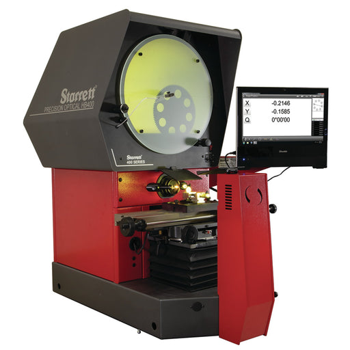 "The HB400 Optical Comparator provides exceptional performance with a 16"" diameter viewing screen and 110lbs. work stage load capacity.  Available with optical and/or video edge detection which removes operator subjectivity in locating the edges of parts being measured."