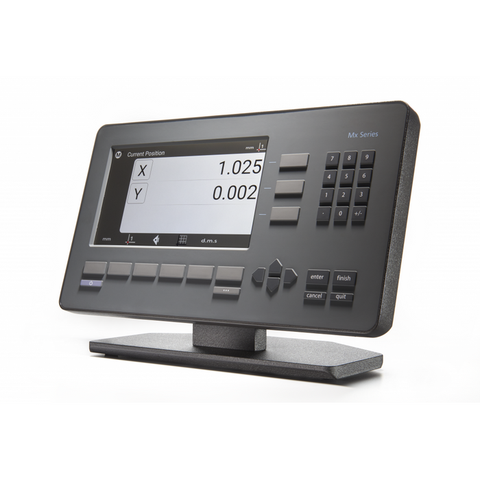 Combining a familiar user experience with current touchscreen conventions, the Mx100 readout can quickly be integrated into your process while being accessible to a wide range of users. Simple zero functions from up to 3 connected encoders.