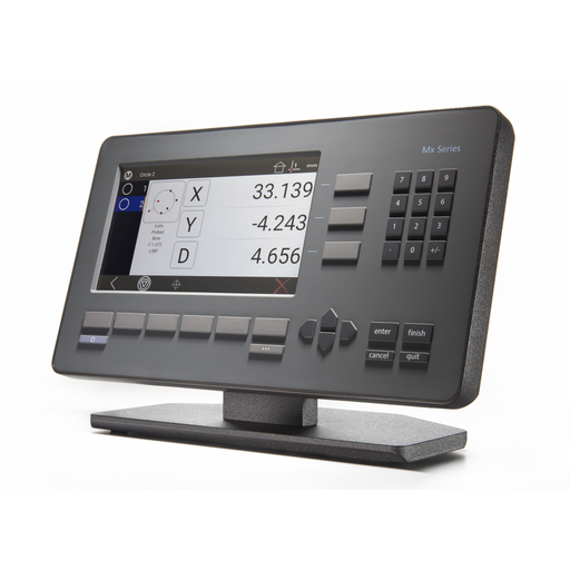A fully featured and easy to use DRO Combining a familiar user experience with current touchscreen conventions, the Mx200 readout can quickly be integrated into your process while being accessible to a wide range of users.