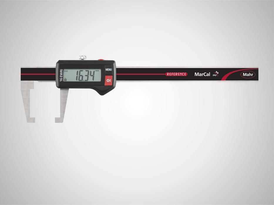 "Mahr - MarCal 16 EWRI-AA Digital Caliper for Special Applications, Flat Jaw 0-6"", Data Interface, IP67"