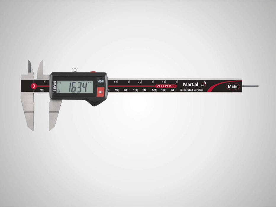 "Mahr - MarCal 16 EWR-NA Digital Caliper for Special Applications, 150mm/6"", IP 67, Data Interface"