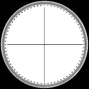Protractor Screen - No. 16 - Optical Comparator Chart