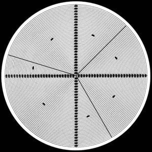 Radius Chart 360° 15° 30° 45° 60° 75° Angles - No. 5 - Optical Comparator Chart