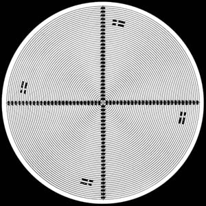 Radius Chart 360° Combination 4 Magnifications on Chart - No. 6 - Optical Comparator Chart