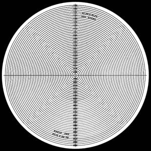 Radius Chart 360° Combination 2 Magnifications on Chart - No. 7 - Optical Comparator Chart