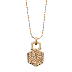 Hexagon - Pendant Necklace : Gold / Champagne