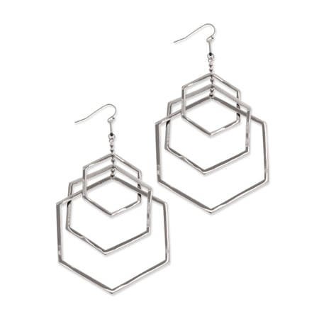 Force - Triple Drop Earrings : Silver