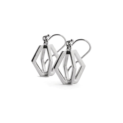 Force - Twisted Drop Earrings : Silver