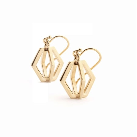 Force - Twisted Drop Earrings : Gold