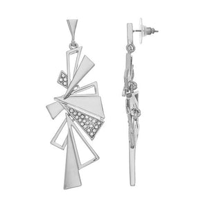 Bold - Statement Earrings : Silver