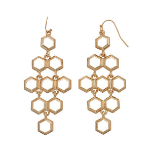 Honeycomb Kite Earrings : Gold