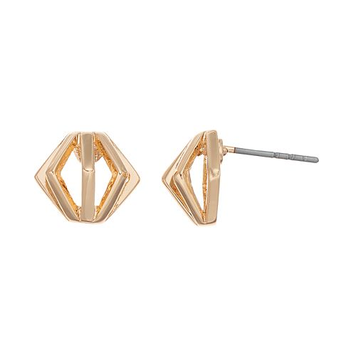 Force - Stud Earrings : Gold