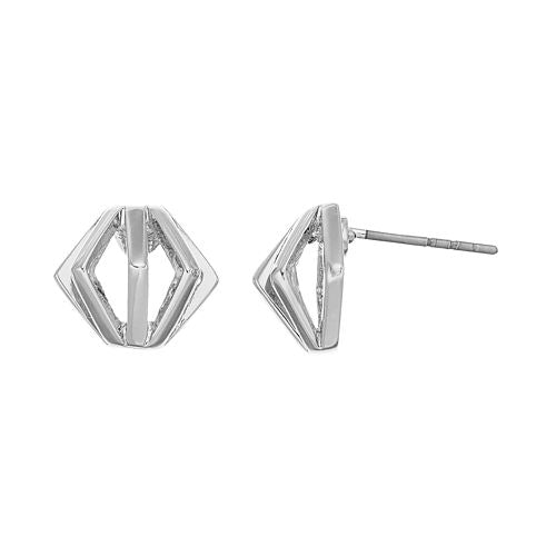 Force - Stud Earrings : Silver