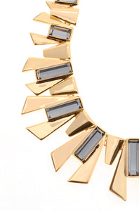 Edge - Statement Necklace : Gold