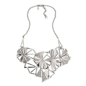Bold - Statement Necklace : Silver