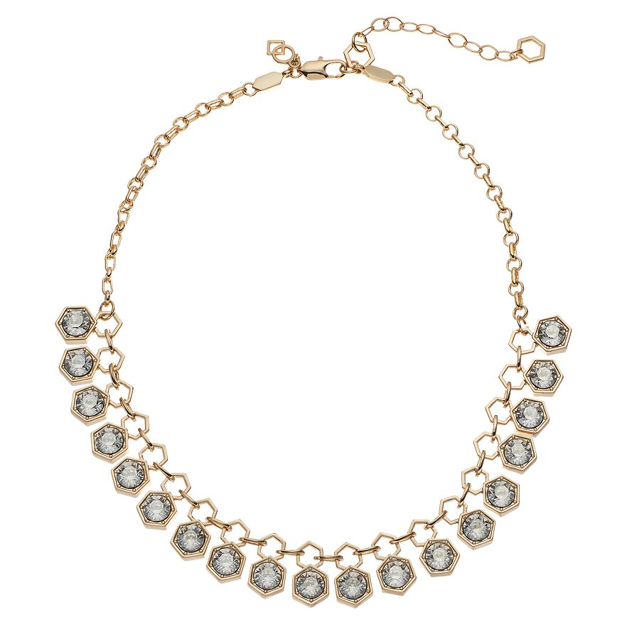 Hexagon - Collar Necklace : Gold