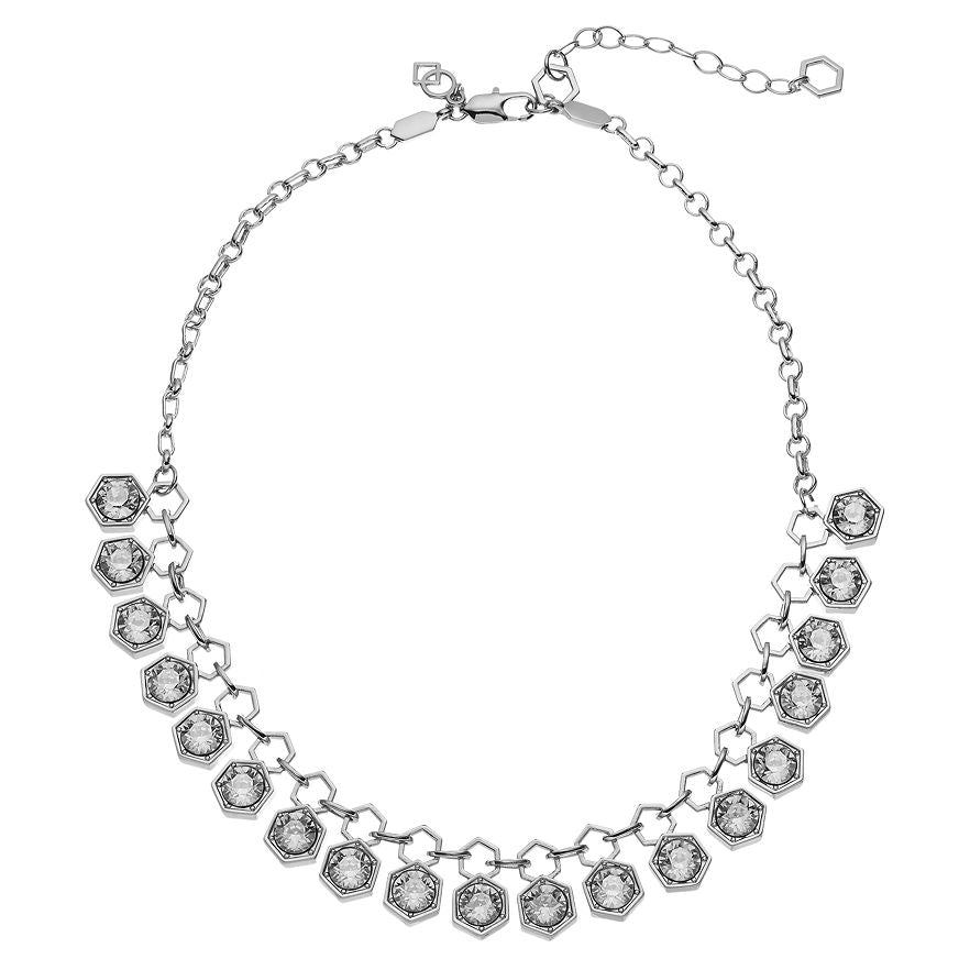 Hexagon - Collar Necklace : Silver